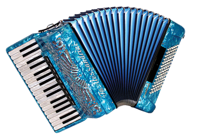 Blue accordion