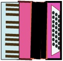 Pink accordion