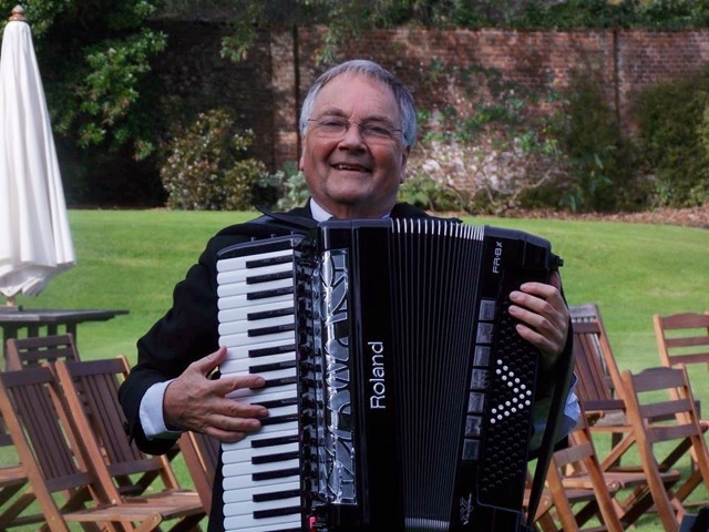 Accordion in Garden