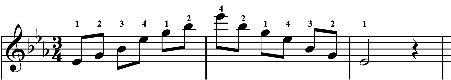 A FINGERING FOR E FLAT ARPEGGIO