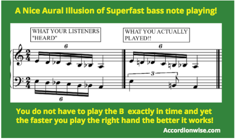 How to fake an incredibly fast bass chromatic run